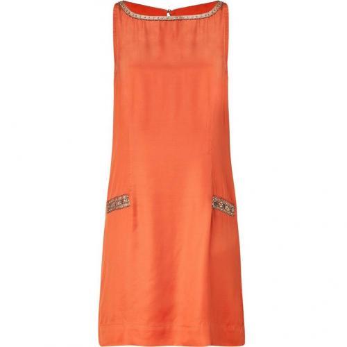 Day Birger et Mikkelsen Orange Judy Dress with Pearls