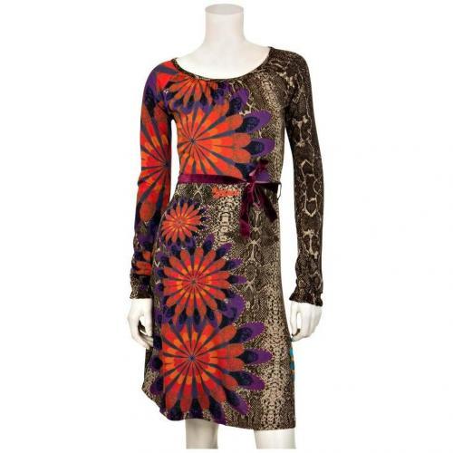 Desigual Jersey-Kleid Vest Tiffannelle Braun