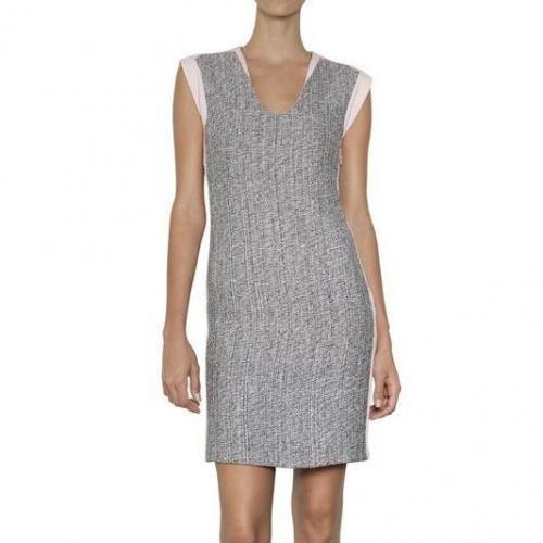 Diane von Furstenberg Ärmelloses Kleid Aus Tweed Und Jersey