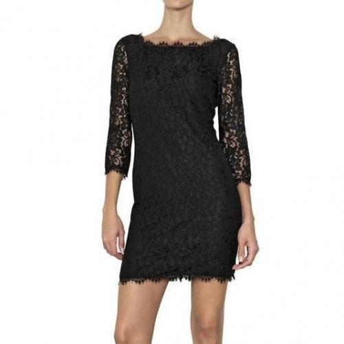 Diane von Furstenberg Spitzen Kleid Mit Blümchen Muster
