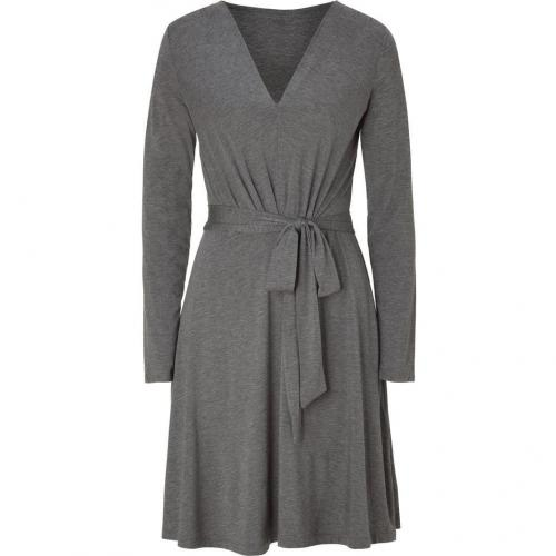 DKNY Flanell Grey Belted Kleid