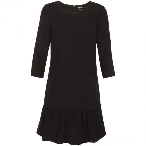 DKNY Kleid mit Volants Schwarz