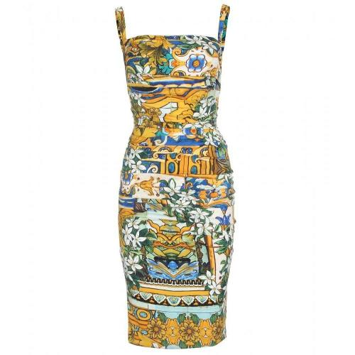 Dolce & Gabbana Drapiertes Seidenkleid