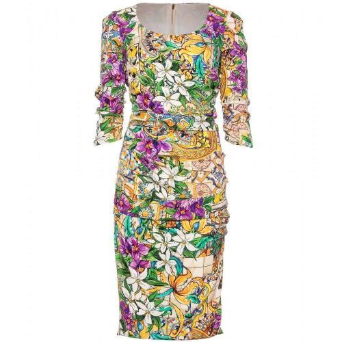 Dolce & Gabbana Gemustertes Kleid Flowers