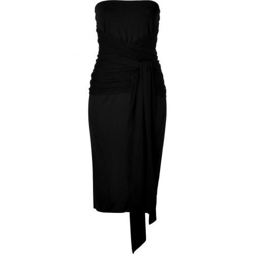 Donna Karan Black Strapless Infinity Kleid