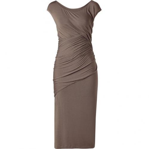Donna Karan Nougat Draped Jersey Kleid