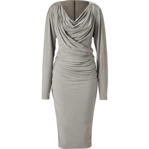 Donna Karan Shadow Draped Jersey Kleid