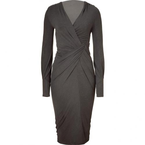 Donna Karan Shadow Draped V-Neck Kleid