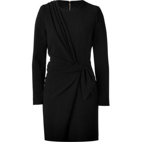 Emanuel Ungaro Black Ruffled Jersey Kleid