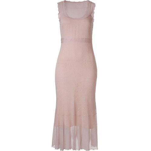 Emanuel Ungaro Rosewater Sleevless Silk Kleid