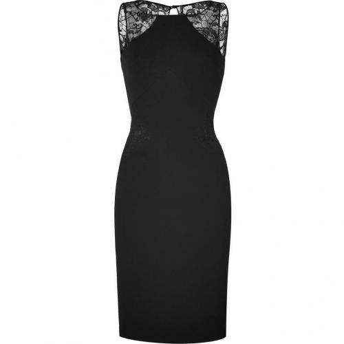Emilio Pucci Black Dress with Lace Inserts