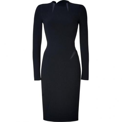 Emilio Pucci Black Silk Trim Sheath Dress