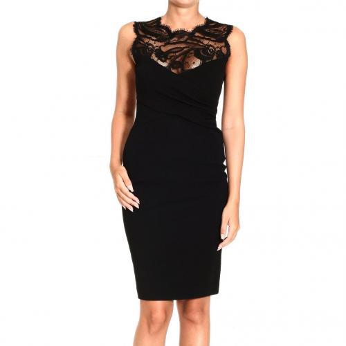 Emilio Pucci Sleeveless milan stitch lace dress