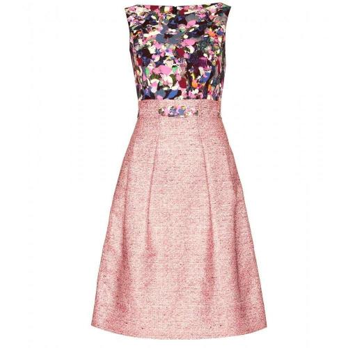 Erdem Bouclé-Kleid Vivienne Mit Print