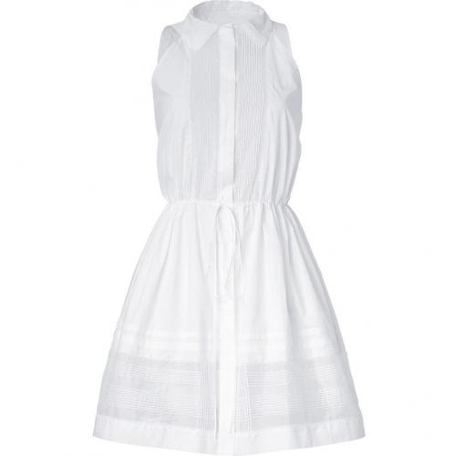 Ermanno Scervino White Corded Sleeveless Dress