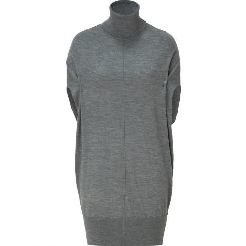 Faith Connexion Grey Knitted Turtleneck Dress