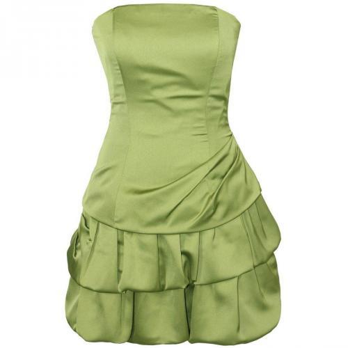 Fashionart Ballkleid grasgrün Schulterfrei