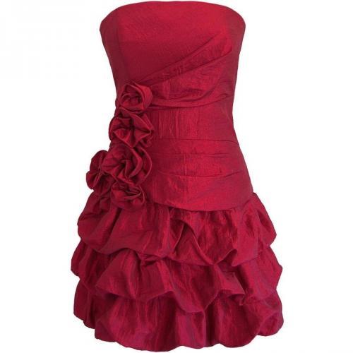 Fashionart Ballkleid rot mit Raffungen