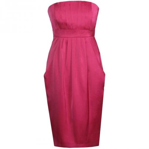 Fashionart Cocktailkleid / festliches Kleid pink Schulterfrei