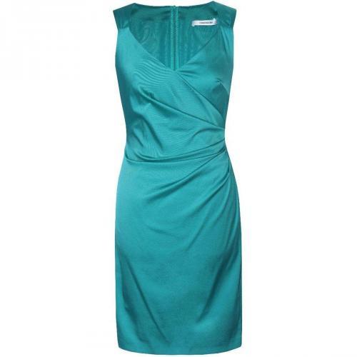 Fashionart Seitlich Gerafftes Kleid Cocktailkleid grün