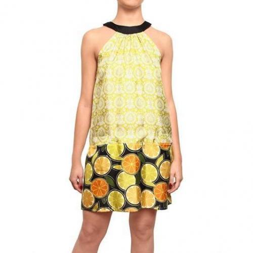 Fattori Blumen & Frucht Druck Kleid