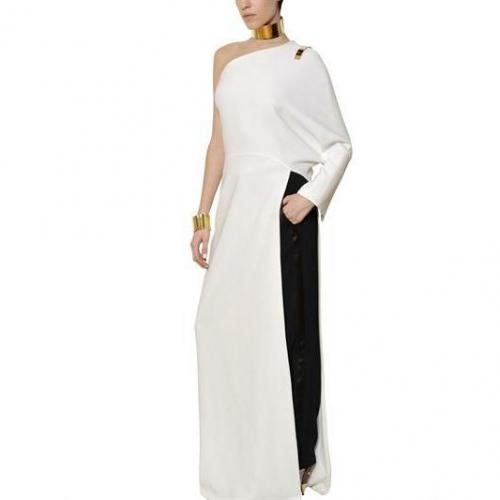 Givenchy Langes Viskosen Cady Stretch Kleid