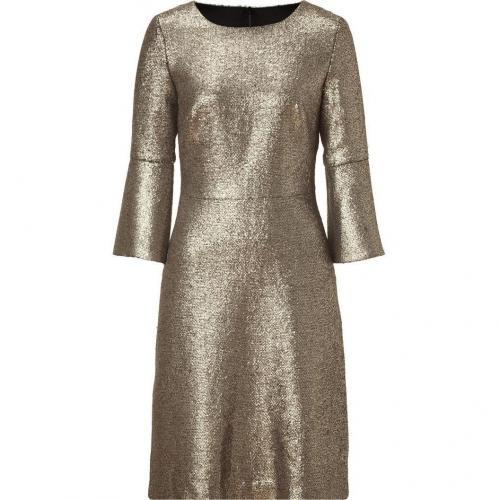 Goat Gold Metallic 3/4 Sleeve Dress