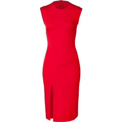 Hakaan Scarlet Red Sleeveless Sheath Dress