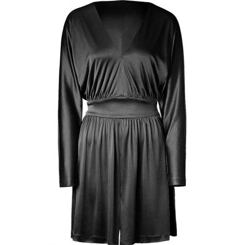 Halston Heritage Black Deep V Cocktail Kleid
