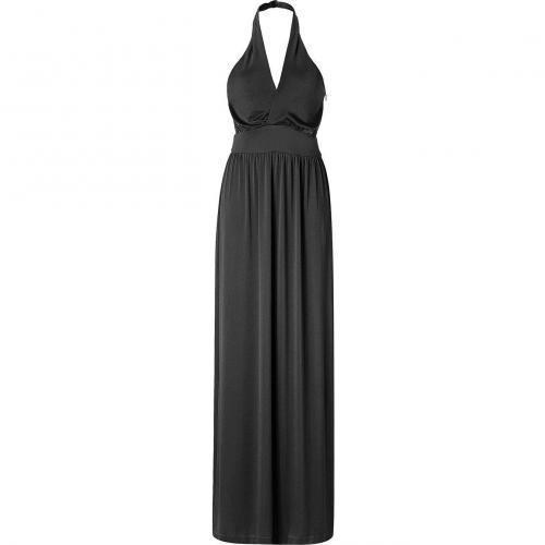 Halston Heritage Black Neckholder Long Kleid