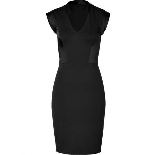 Halston Heritage Black Paneled Kleid