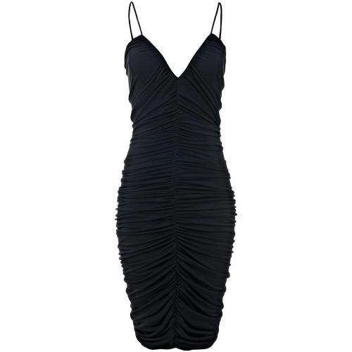 Halston Heritage Kleid Schwarz mit schmalen Trägern