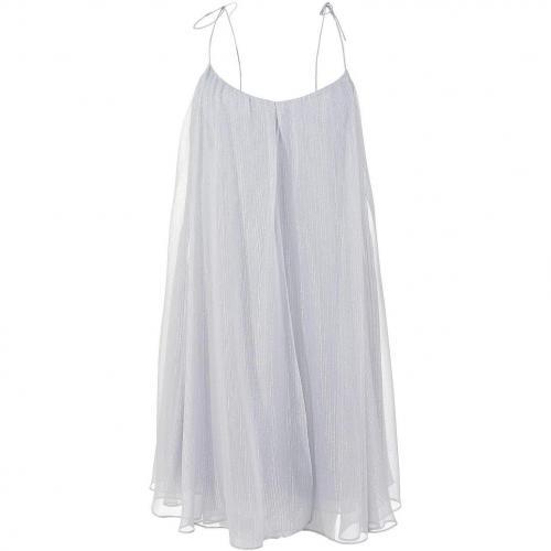Halston Heritage Seidenkleid Silber
