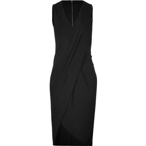 Helmut Lang Black Helix Jersey Dress