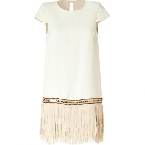 Hoss Intropia Beige Fringe Dress