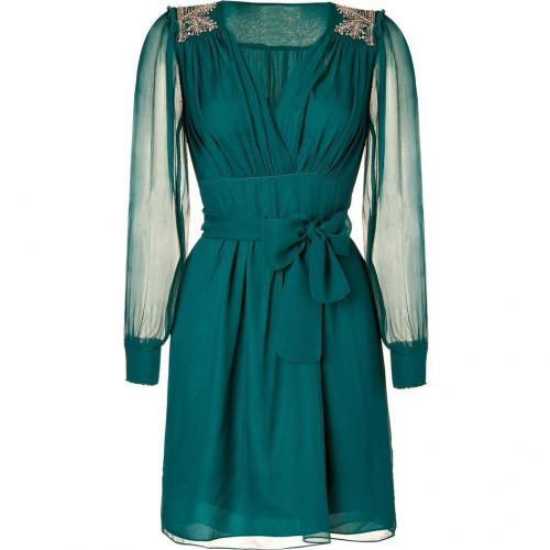 Hoss Intropia Dark Turquoise Silk Dress