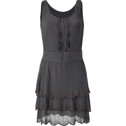 Hoss Intropia Petroleum Bead-Embellished Dress