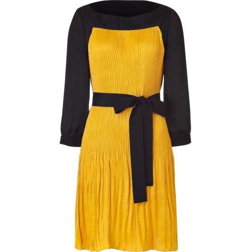 Hoss Intropia Sunflower/Black Pleated Dress