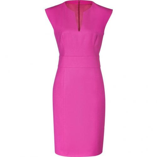 Hugo Dark Pink Wool Stretch Kacy Dress