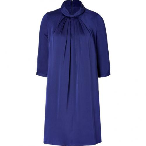 Hugo Dark Purple Keliesa Stretch Silk Dress