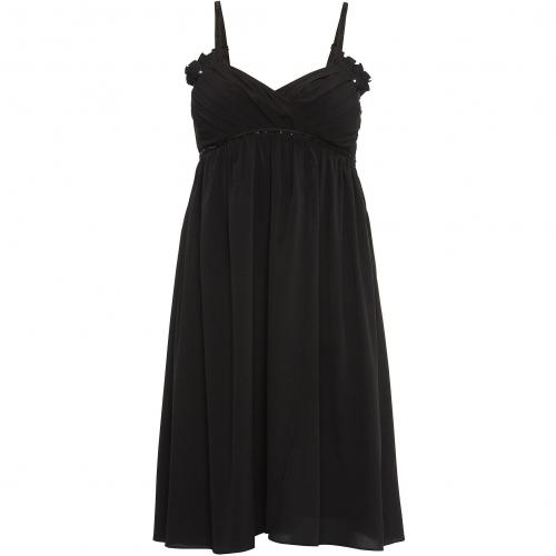 Ichi Kleid schwarz Ärmellos