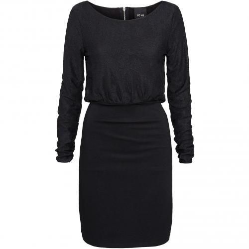 Ichi Kleid schwarz mit Rücken-Reißverschluss