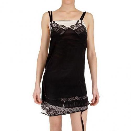 Insideout Seiden Crepe Und Jersey Slip Kleid