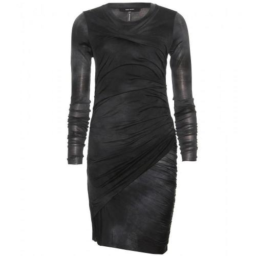Isabel Marant Courtney Drapiertes Kleid Dunkelgrün