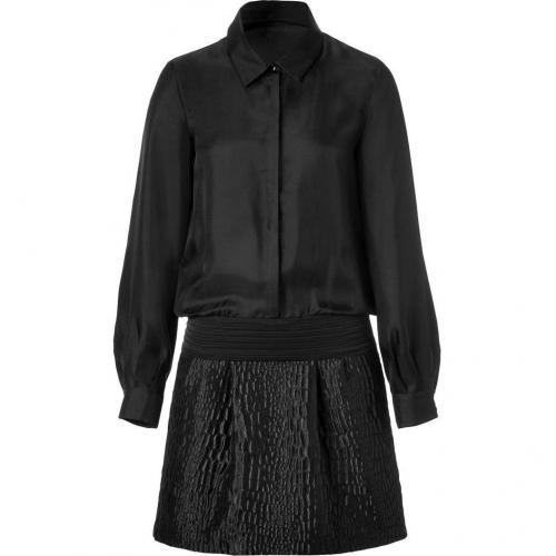 Jay Ahr Black Jacquard Combo Dress