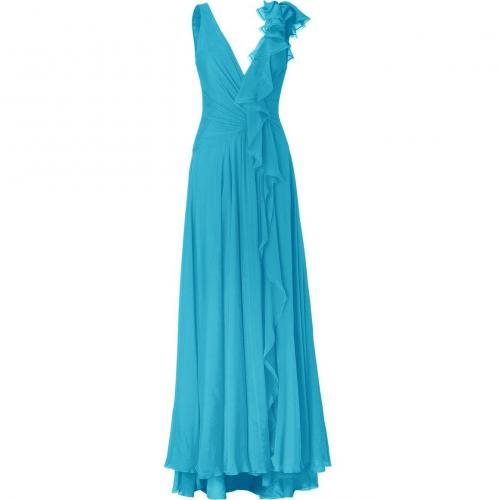 Jenny Packham Azure Silk Chiffon Gown
