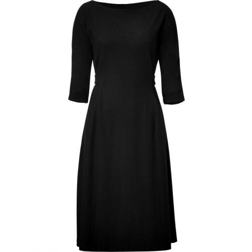 Jil Sander Black Belted Flared Dress