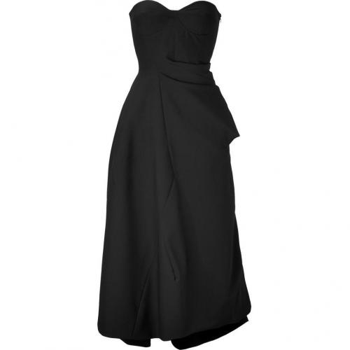 Jil Sander Black/Coal Wool Bustier Dress