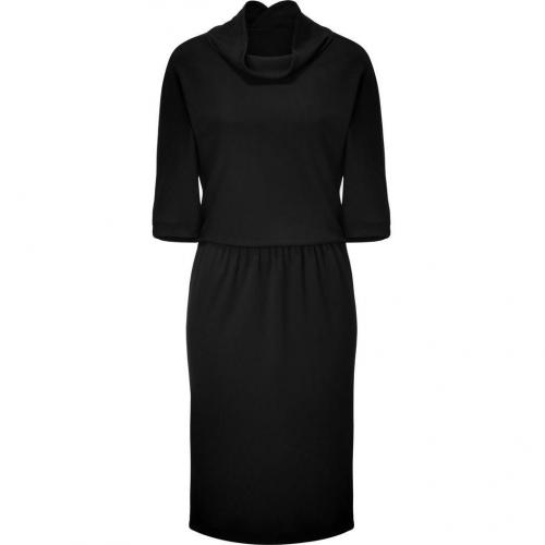 Jil Sander Black Drop-Waist Fine Knit Dress