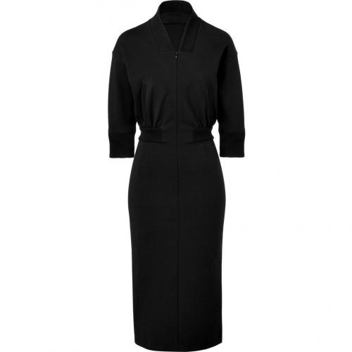 Jil Sander Black Stretch Wool Dress
